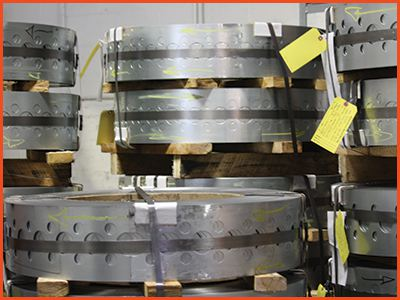 Perforated sheets coils